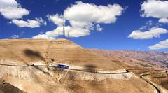 Road to Petra throuh Mujeb Valley - Jordan.