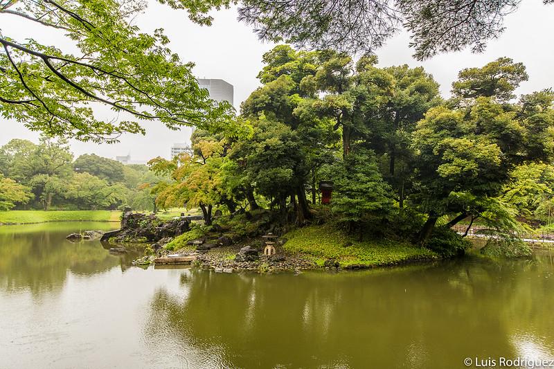 Isla Horai en los jardines Koishikawa Korakuen
