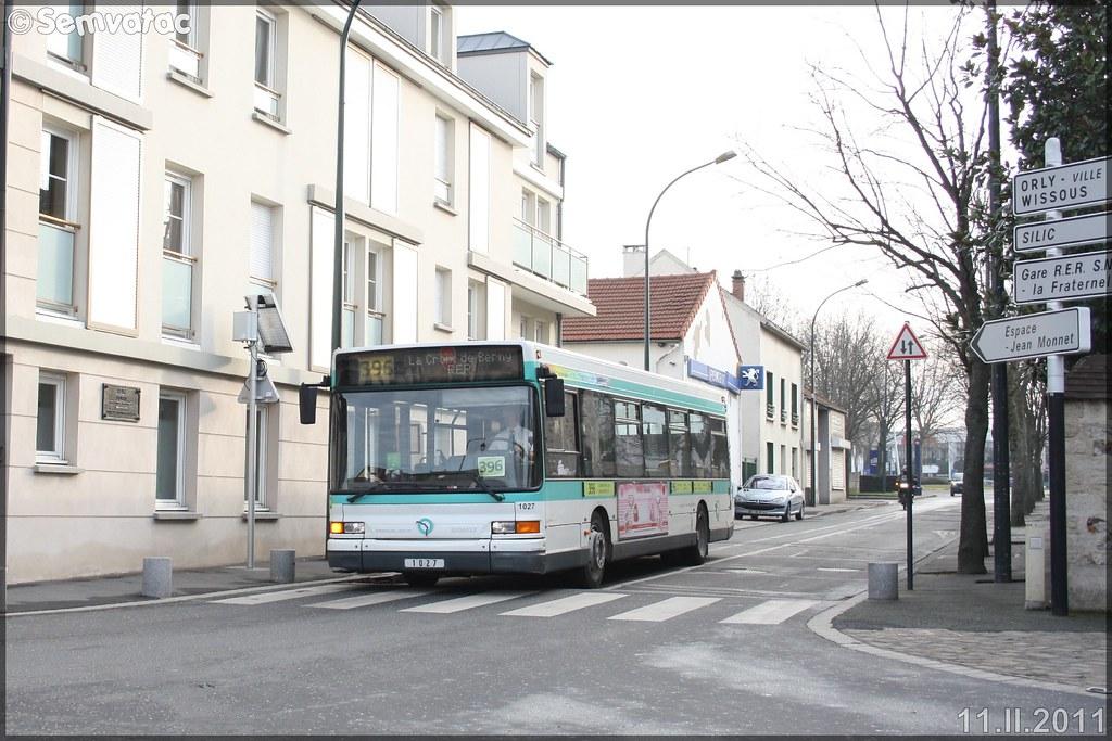Heuliez Bus GX 317 (Renault Citybus) – RATP (Régie Autonome des Transports Parisiens) / STIF (Syndicat des Transports d'Île-de-France) n°1027