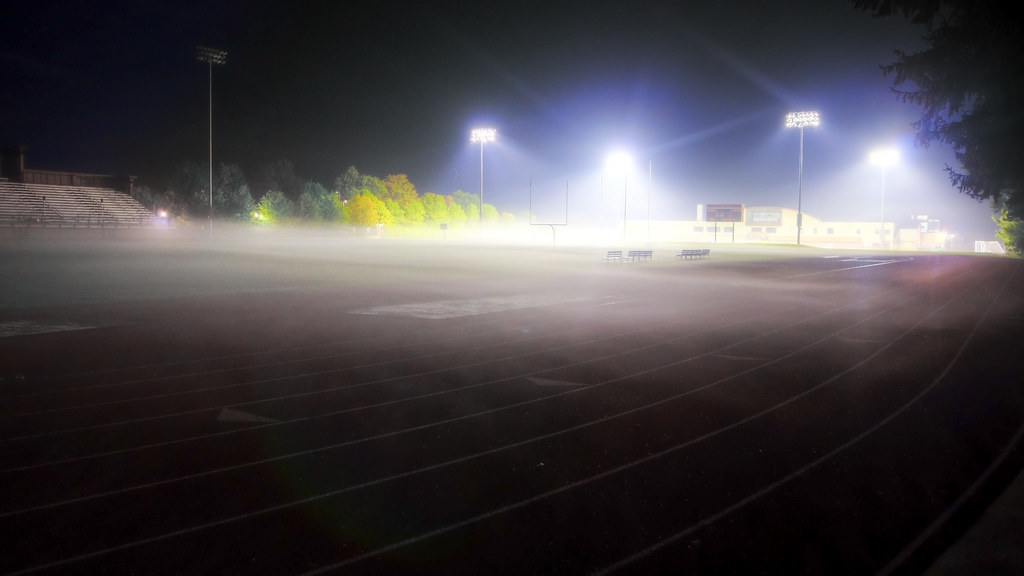 Night Fog on the Football Field