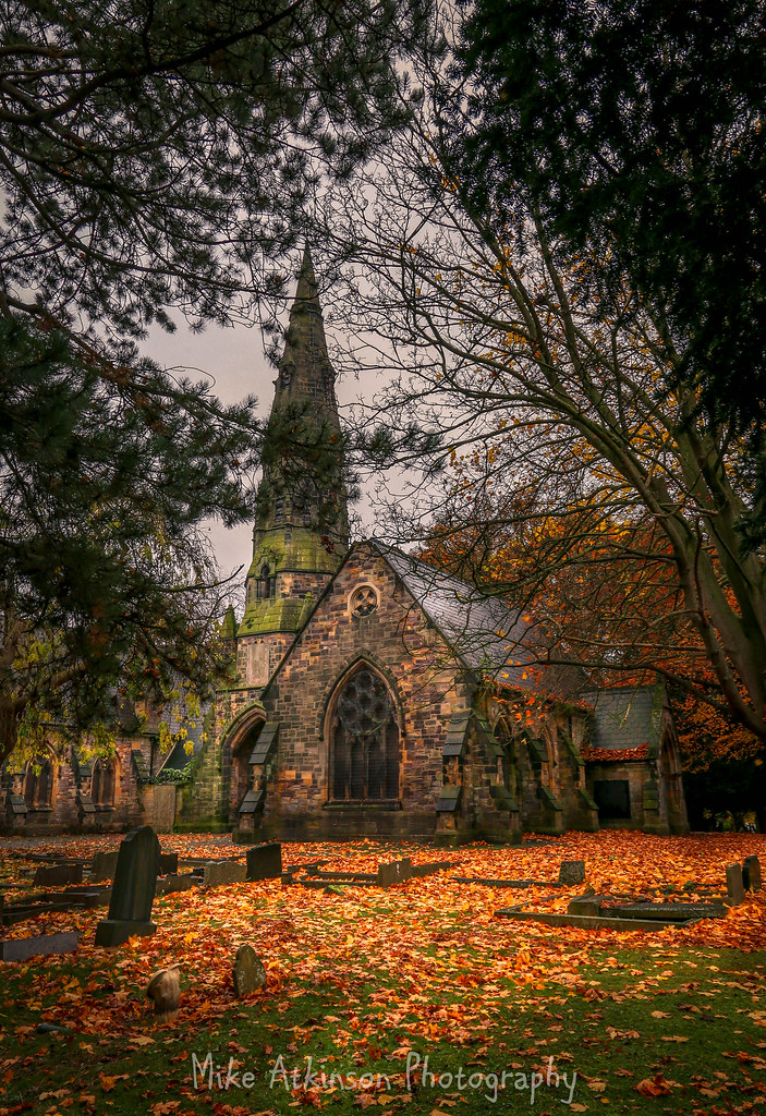 North Cemetery Chapel In Autumn (Portrait).