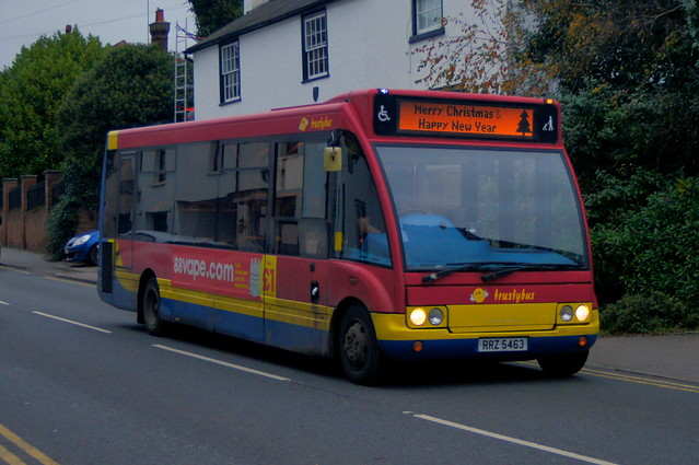 Rainbow Season: Trustybus (ex Stagecoach Western 47170) Optare Solo M850 RRZ5463 (formerly SF05NXD) Silver Street Stansted Mountfitchet 18/11/20