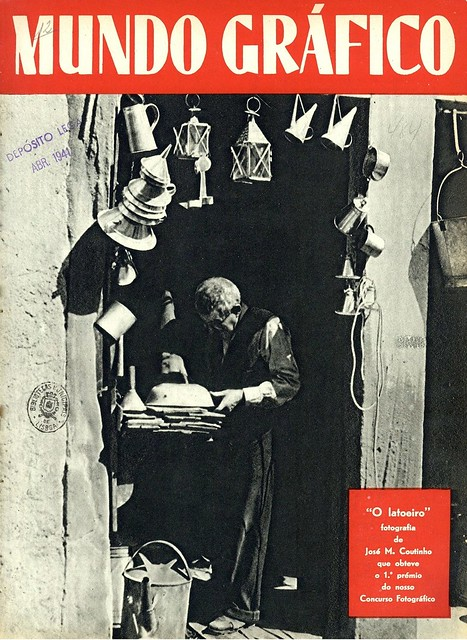 Capa revista antiga | vintage magazine cover | Portugal 1940s