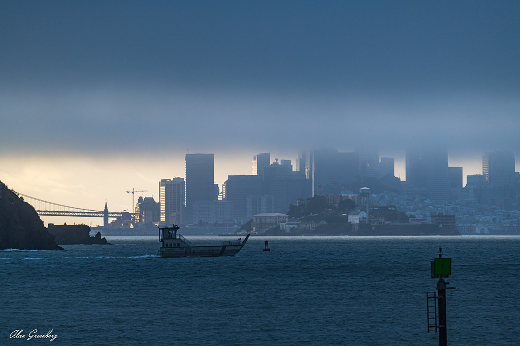 San Francisco emerging from the morning fog