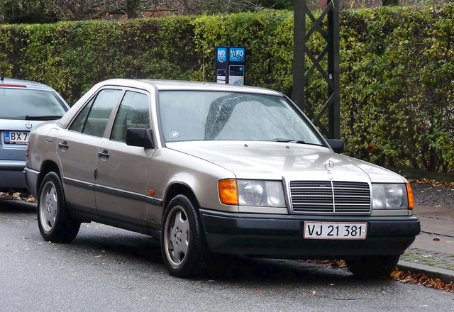 1988 Mercedes 230E VJ21381 still on the roads of Denmark