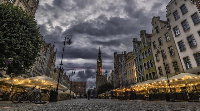 Gdansk...cloudy evening...
