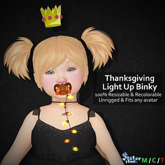 Presenting the new Thanksgiving Light Up Binky from Jester Inc.