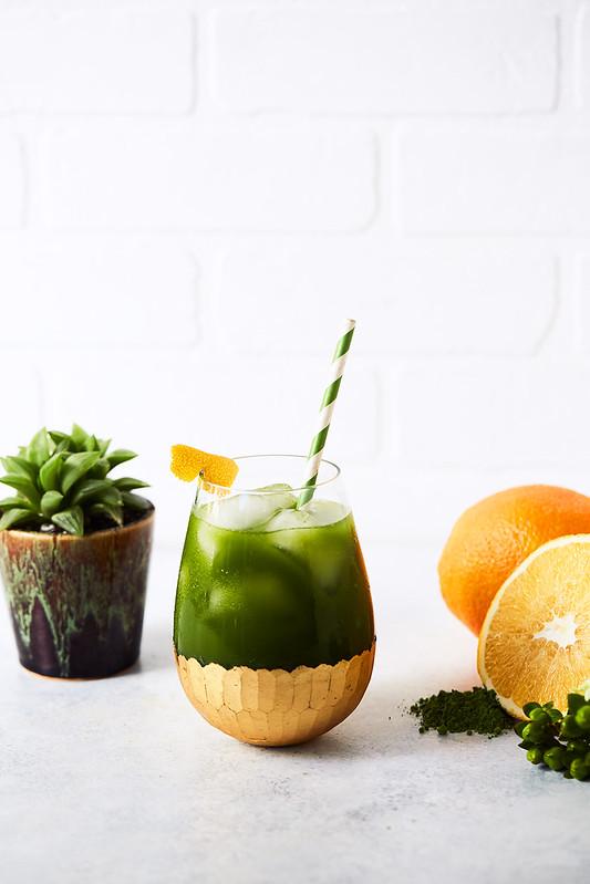 Immune Supportive Citrus Matcha Elixir