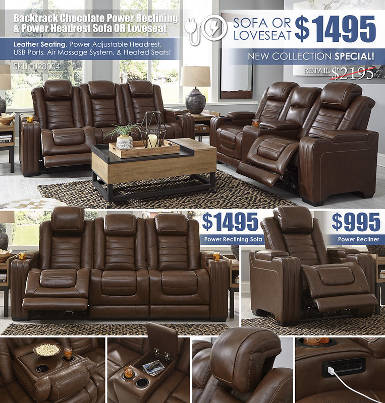 Backtrack Chocolate Power Reclining Sofa OR Loveseat_U28004_NewUpdate_Layout_Newest