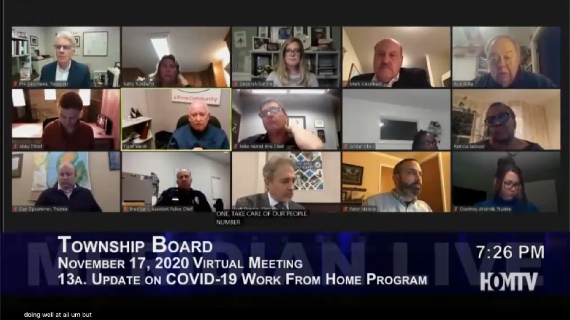 Meridian Township COVID-19 Work From Home Program Update