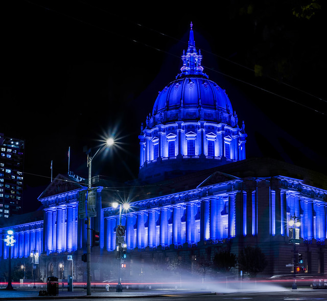city hall lights up for premature birth day