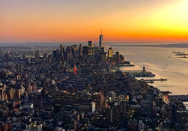 Lower Manhattan from the sky - New York City