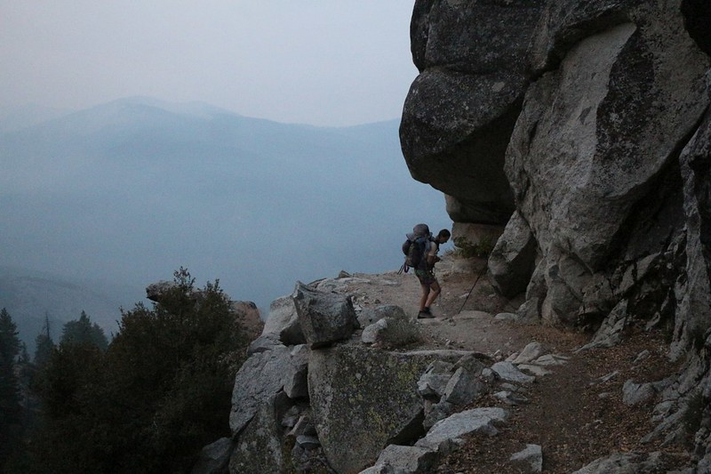 The California Wildfires of 2020 began four days earlier, and the smoke arrived on this final day of our 11-day trek