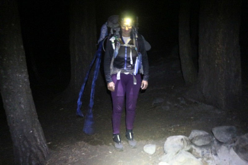 It was cool as we left camp in the dark at Nine Mile Creek on the High Sierra Trail