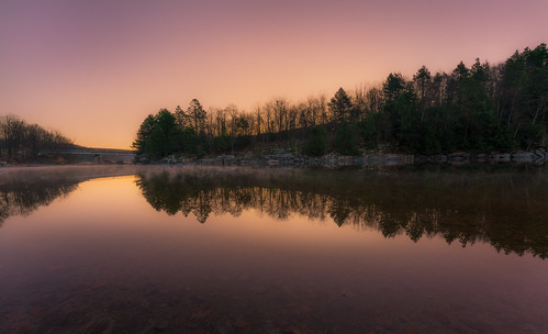 outside outdoors nature cold chilly light sunlight woods forest trees rural pennsylvania poconos early sunrise misty mist landscape autumn november pa roadtrip travel vacation sony alpha a7riii ilce7rm3 1424mmf28dgdn|a sigma art lens ultrawideangle 14mm reflection tree shore lake water zoom