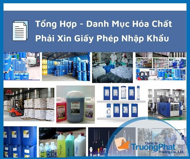 danh mục hóa chất phải xin giấy phép nhập khẩu