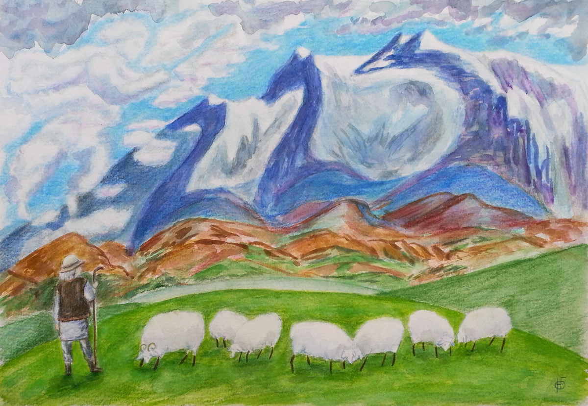 Пастух в горах
