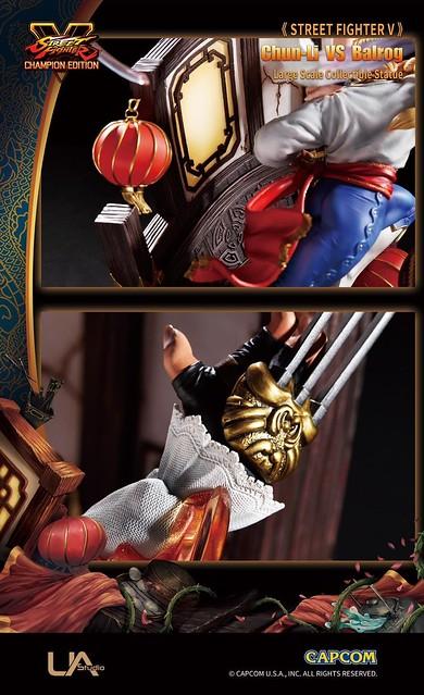UNIQUE ART STUDIO《快打旋風V》春麗vs巴洛克 大型雕像 躍動再現戰鬥場景!