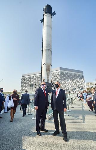 US pavilion completes construction milestone