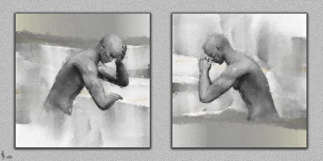 His Rumination Wrapt Him - a diptych