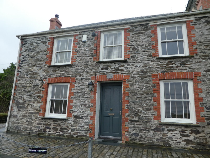 Dr. Ellingham's surgery in Port Isaac, Cornwall