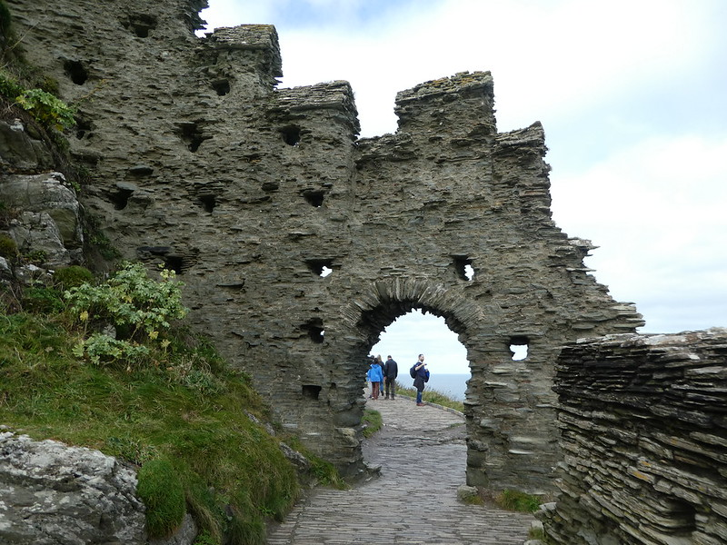 Exploring the ruins of Tintagel Castle, Cornwall