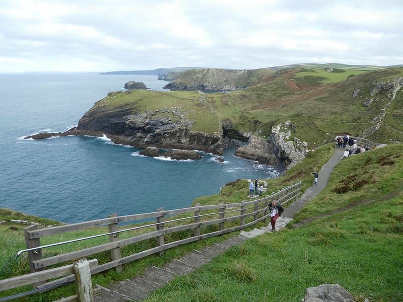 The dramatic coastline at Tintagel, Cornwall