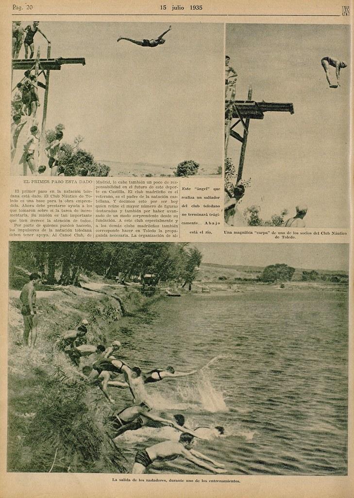 Reportaje sobre el Club Náutico de Toledo. Semanario gráfico As, 15 de julio de 1935.