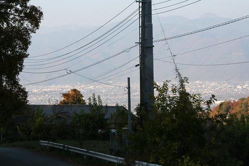山梨 黒坂オートキャンプ場から見える街並み