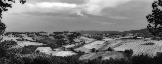 Paesaggio di campagna nelle Marche