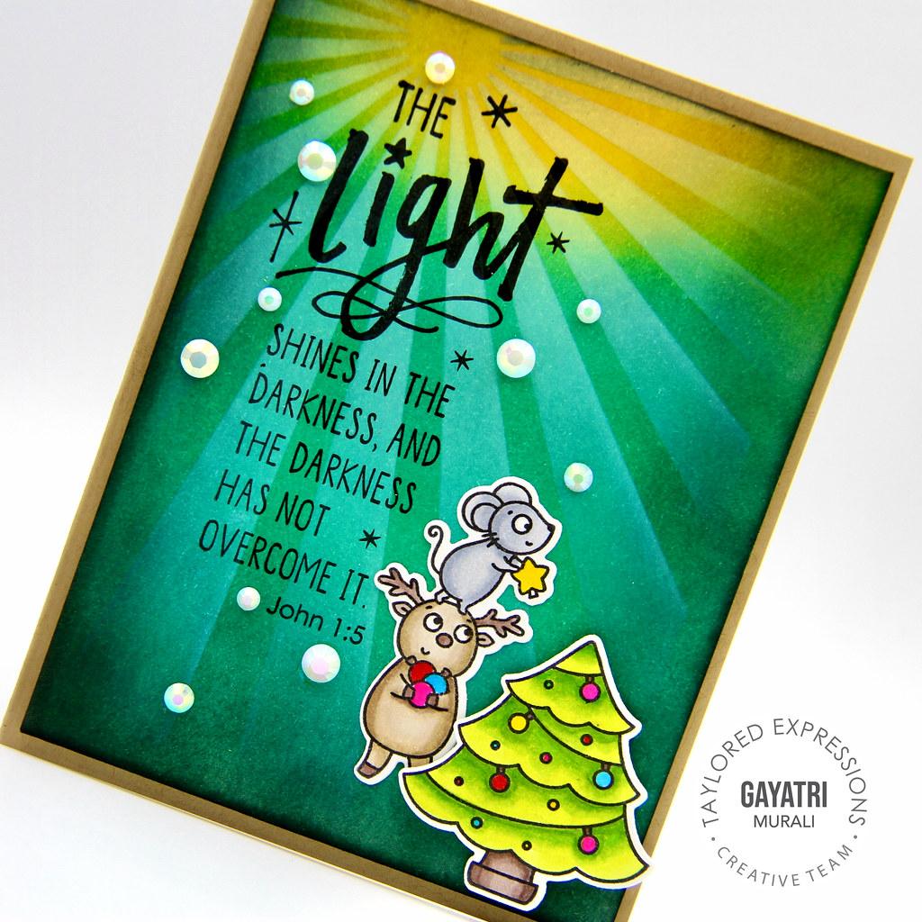 Light card closeup