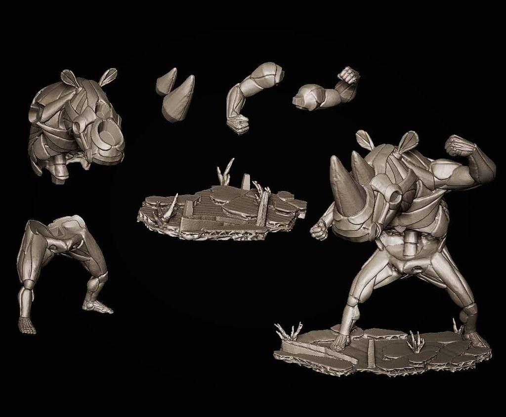 瓦楞紙藝術家 鍾凱翔參戰玩具界!首度展出「剝奪仔·犀角」紙感軟膠 & 恐龍黑幫one off 改造藝術品【TTF2020】