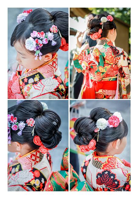 七五三 日本髪のヘアスタイル 7才の女の子