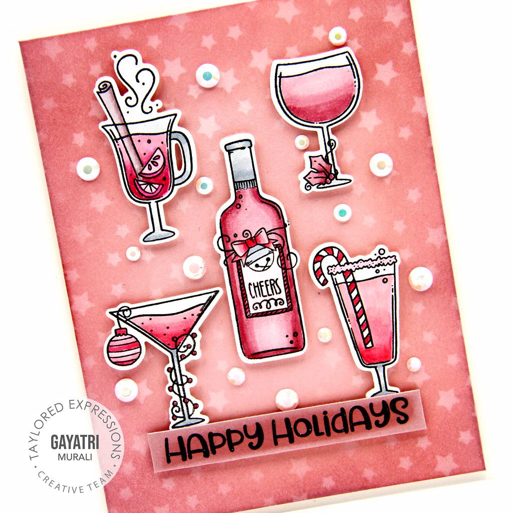 Happy holidays card closeup