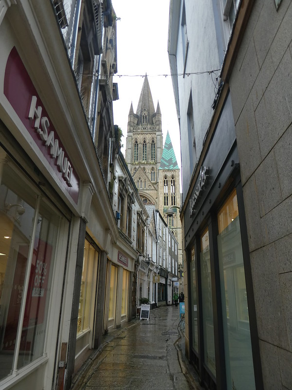 Narrow streets of Truro city centre