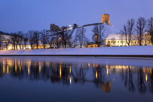 Gediminas Castle Tower, Neris River, Vilnius, Lithuania