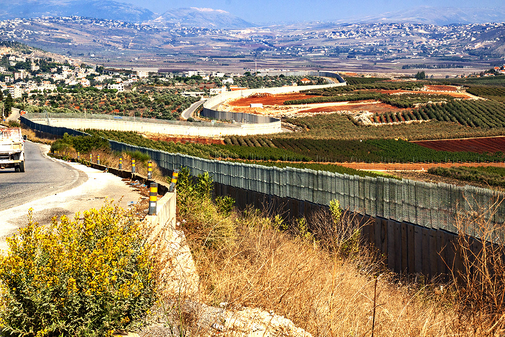 Lebanese Israeli border on 11-19-20--Kfarkela and Metula