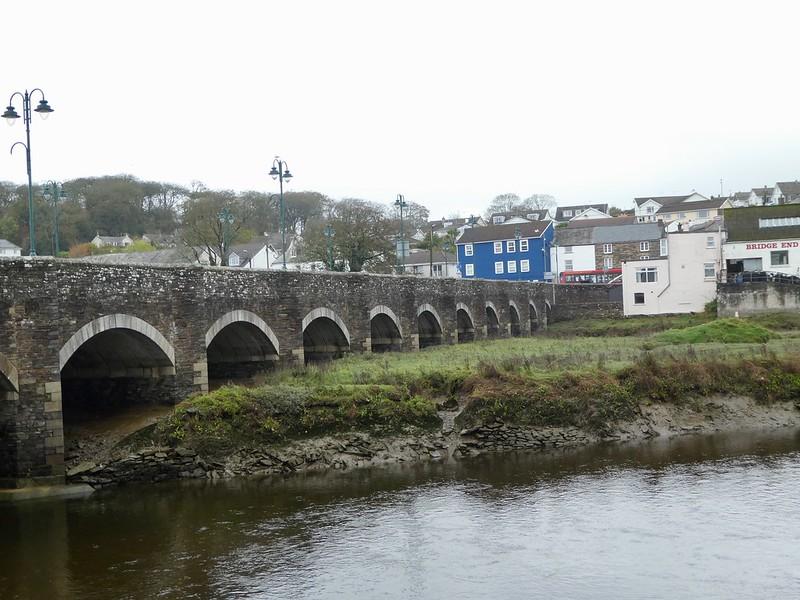 15th century arched bridge, Wadebridge, Cornwall