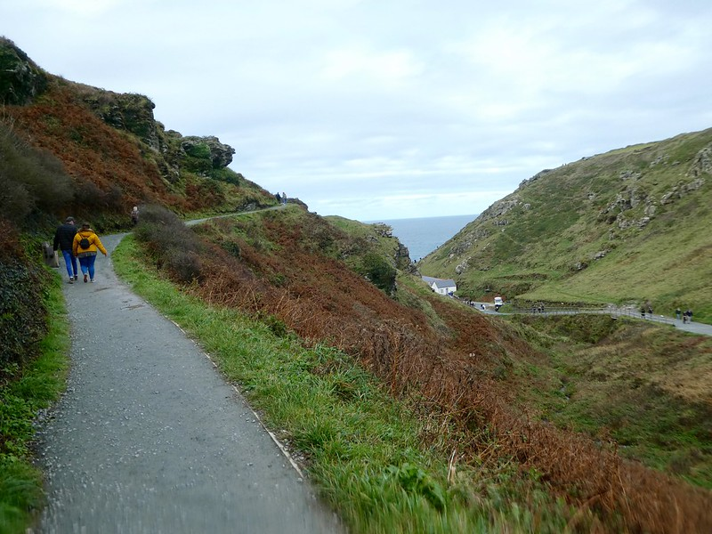 The path leading to Tintagel Castle, Cornwall