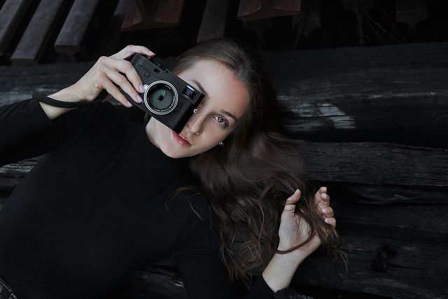 Elena S., behind and in front of camera