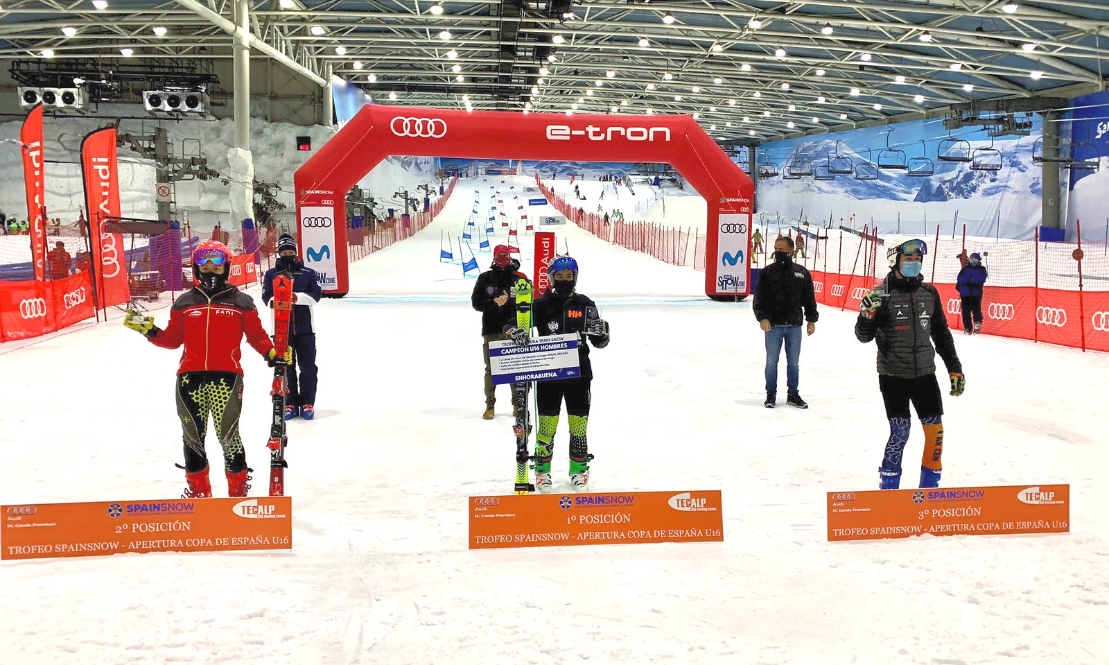 Podio U16 Trofeo Spainsnow