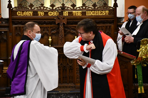 Bishop Andrew Forster welcomes the Revd Rhys Jones, as the new Rector of Aghanloo, Balteagh, Carrick and Tamlaghtard.
