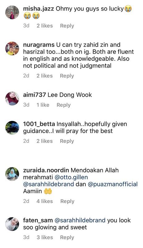 Netizen Komen di Gambar Suami Bersama PU Azman, Ini Reaksi Sarah Hildebrand