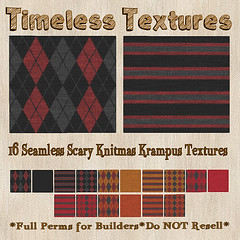 TT 16 Seamless Scary Knitmas Krampus Timeless Textures