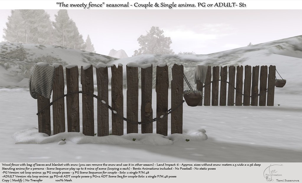 .:Tm:.Creation The sweety fence Seasonal with anims. St1