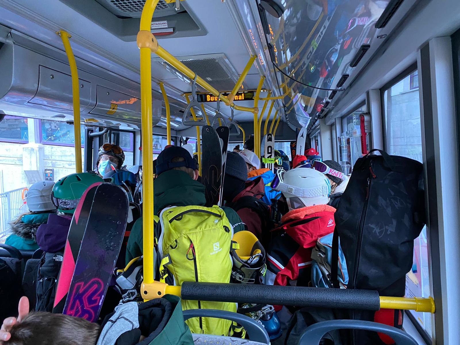 Autobús a pistas