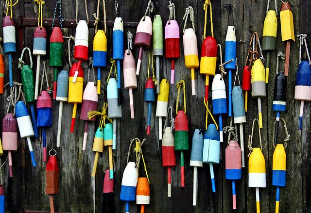Wall of buoys