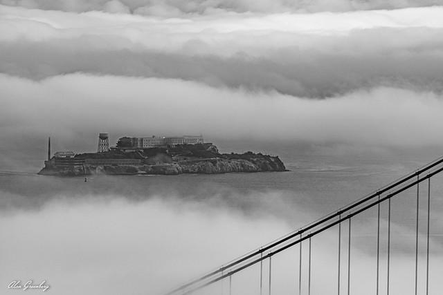 Alcatraz in the fog