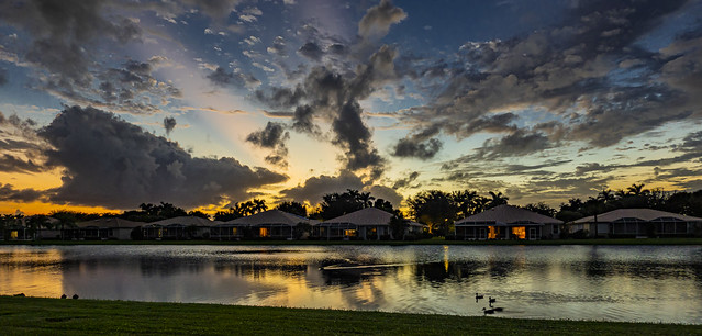 Sunset After A Rainy Day In South Florida