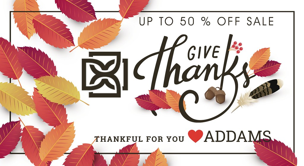 Starting Today🔥 – Thanksgiving with ❣️Addams – 50% Off Storewide Sale + Huge L$100,000 Giveaway!🔥
